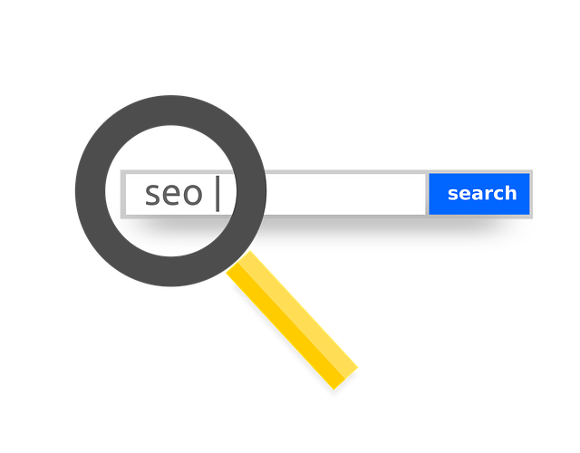 local search with seo keyword and a magnifier