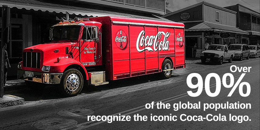 logo statistics over 90% of global population recognize the logo of coca cola